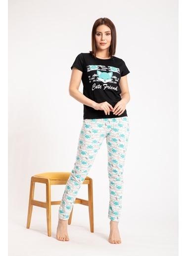 Pemilo Pijama Takım Siyah